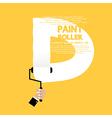 Paint Roller Alphabet D vector image
