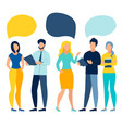 people team conversation vector image vector image