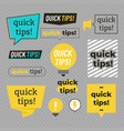 quick tips helpful tricks banners set vector image vector image