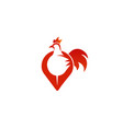 rooster pin symbol logo vector image vector image