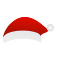 santa hat on a white background vector image vector image