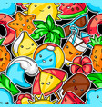 seamless pattern with summer items vector image vector image