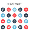 set of 20 editable analytics icons includes vector image