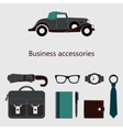 set of fashionable men accessories vector image vector image