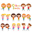 set of girls in exercises poses isolated on vector image