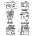 set of house hand draw vector image vector image