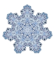 Seven-pointed snowflake pattern vector image vector image