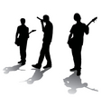 Silhouettes of young rockers vector | Price: 1 Credit (USD $1)