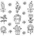 spring item doodles collection vector image vector image