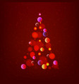 stock abstract christmas tree vector image