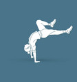 street dance b boys dance hip hop exercise yoga vector image