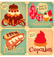 Sweet Cakes Retro Card vector image