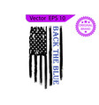 thin blue line us flag police blue line vector image vector image