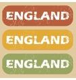 Vintage England stamp set vector image vector image