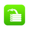 water hose icon green vector image