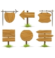 Wooden pointers and signs vector image
