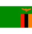 Zambian flag vector image vector image