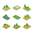zoo concept 3d isometric view vector image