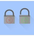 Flat locks vector image