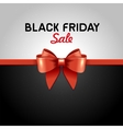 Black Friday Poster Sale with Ribbon and Bow Knot vector image