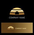 eskimo home ice gold logo vector image