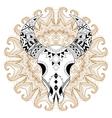 Zentangle stylized Animal Skull on gypsy mandala vector image