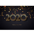 2020 happy new year elegant background gold text vector image