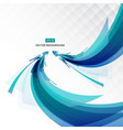 abstract blue shape line and light perspective vector image
