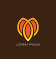 Abstract lotus leaf business logo