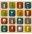 Alcohol Icons Flat vector image