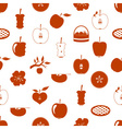 apple theme red simple seamless pattern eps10 vector image vector image
