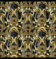 baroque 3d seamless pattern antique background vector image vector image
