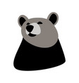 bear face front view vector image vector image