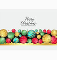 beautiful premium christmas balls decoration vector image vector image