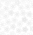 black and white seamless pattern in flowers vector image vector image
