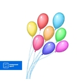 bright balloons isolated on white vector image vector image
