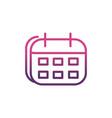 calendar network social media icon line vector image