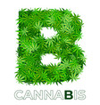 cannabis hemp leaf logo vector image