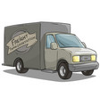 cartoon freight transportation gray cargo truck vector image
