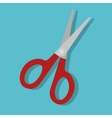 cartoon scissors school tool graphic isolated vector image vector image