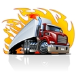 Cartoon Semi Truck One-click repaint vector image vector image