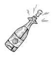 champagne bottle explosion vector image vector image