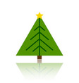 christmas tree simple color flat icon vector image vector image