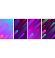 colorful backgrounds with abstract geometric vector image vector image