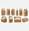 craft food box cardboard lunch box and food pack vector image