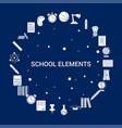 creative school elements icon background vector image vector image