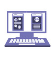desktop computer with web page isolated icon vector image vector image