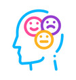 different mood smile in man silhouette mind vector image