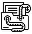 email virus worm icon outline style vector image