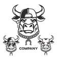 evil bull head logo vector image